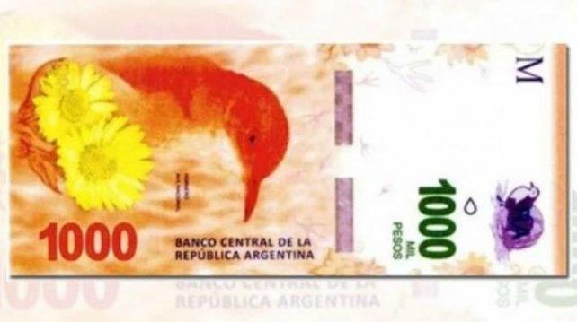 Pondrán en circulación el billete de mil pesos la próxima semana