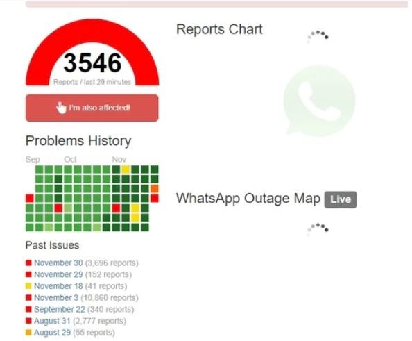 Se cayó Whatsapp a nivel mundial y afectó a millones de usuarios