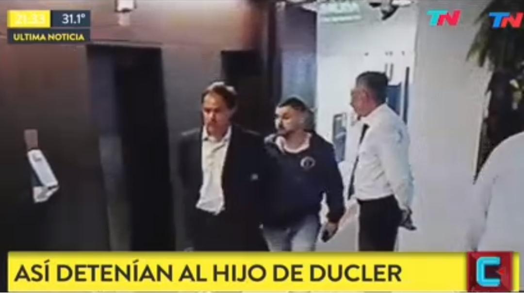 El momento de la detención del hijo de Aldo Ducler