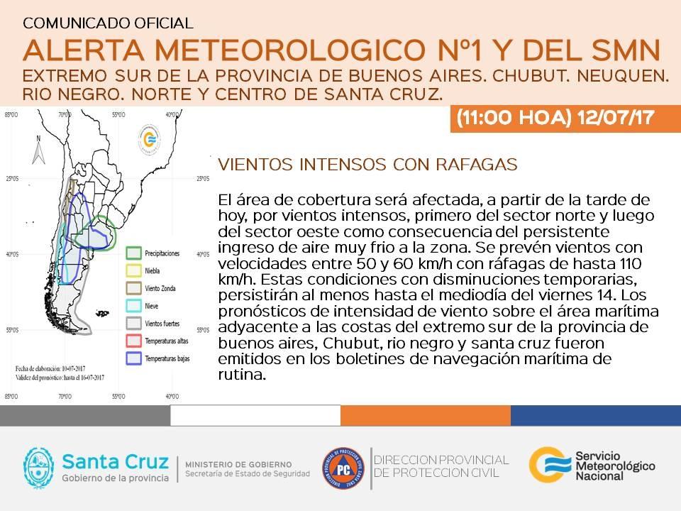 Pronóstico en Salta: Alerta por vientos intensos en la cordillera