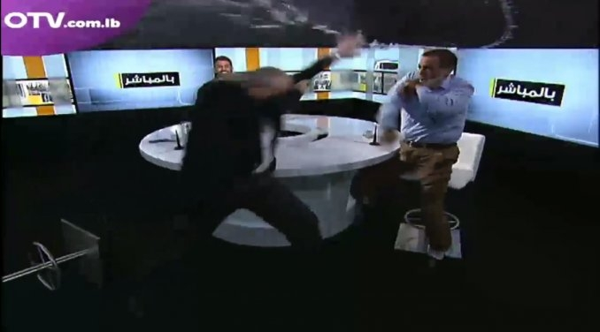 Debate en TV termina en golpiza