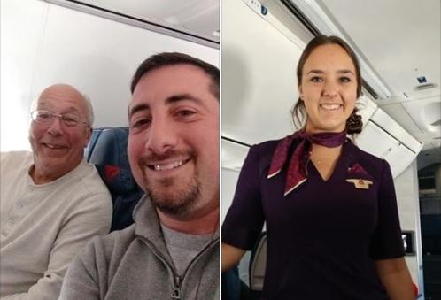 Un papá pasó la navidad volando junto a su hija azafata
