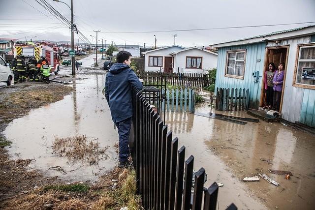 Suspenden clases en Punta Arenas por fuerte sistema frontal