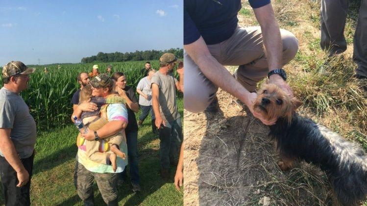 Una nena de 3 años se perdió y la salvó su perro