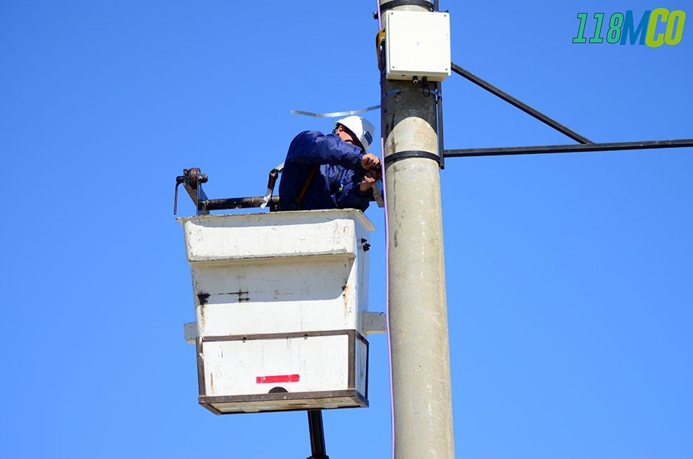 Nueva cámara de seguridad en el acceso sur de Caleta Olivia - El Diario Nuevo Dia