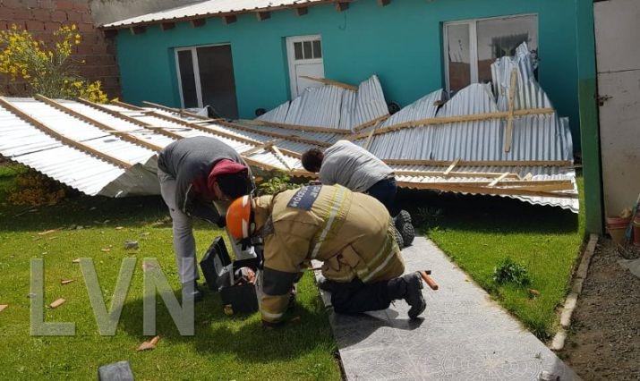 El temporal de viento trajo varios inconvenientes en Caleta Olivia - El Diario Nuevo Dia