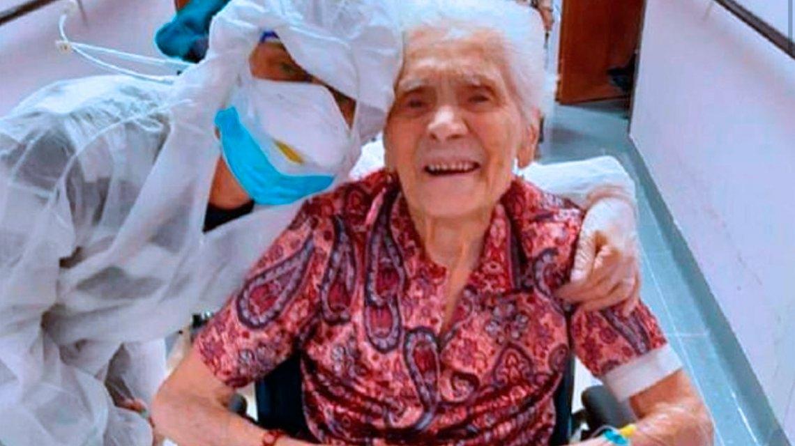 Con 104 años vivió las dos guerras mundiales y venció al coronavirus