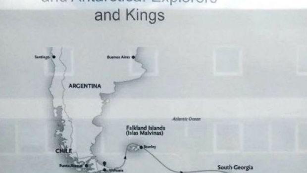 Agencia de Ushuaia promocionaba viajes en crucero a Malvinas con el nombre Falklands