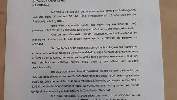 """Vocal por los Pasivos ante la CPS pide derogar el """"aporte solidario"""""""