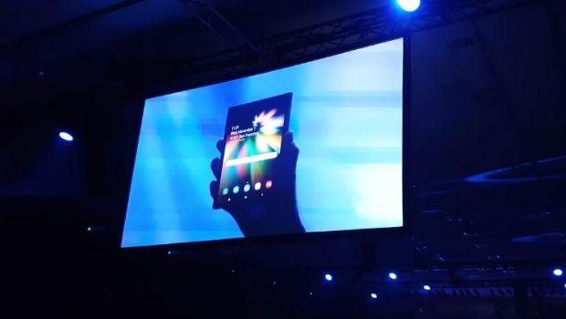 Samsung mostró por primera vez el Galaxy F, su esperado smartphone de pantalla plegable