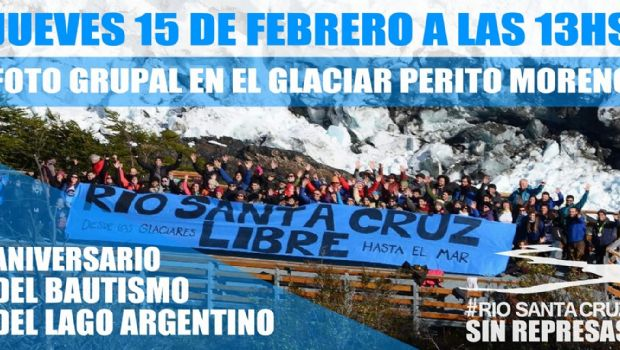 Convocan a foto contra las Represas frente al Glaciar Perito Moreno