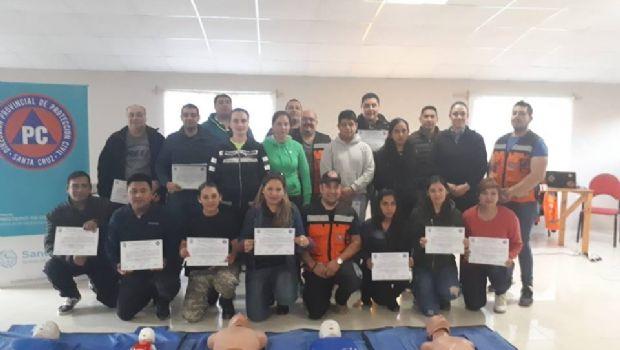 Protección Civil realizó capacitaciones en RCP y Primeros Auxilios
