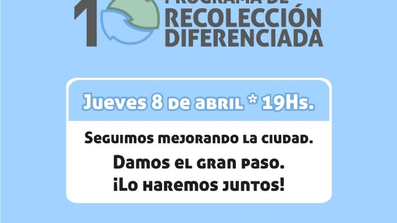 Río Gallegos presenta su propio programa de recolección diferenciada